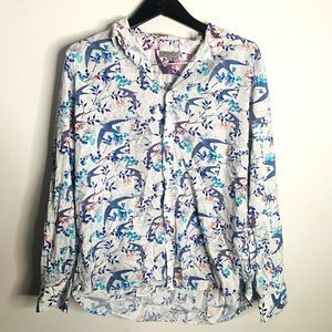 Ted Baker Button Up Shirt Bird Print White